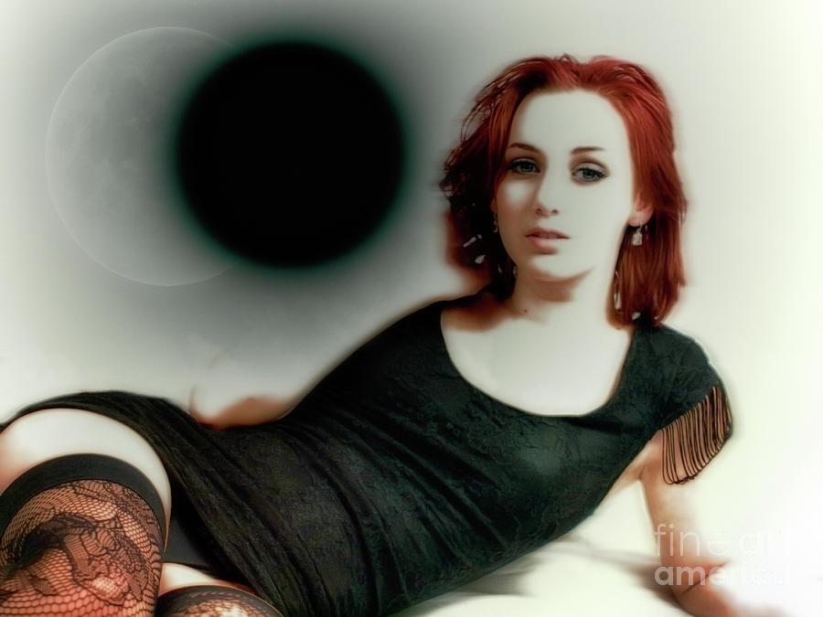 Beauty Photograph - Under The Geisha Moon by ManDig Studios