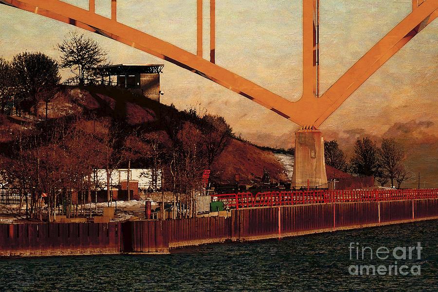 River Digital Art - Under the Hoan by David Blank