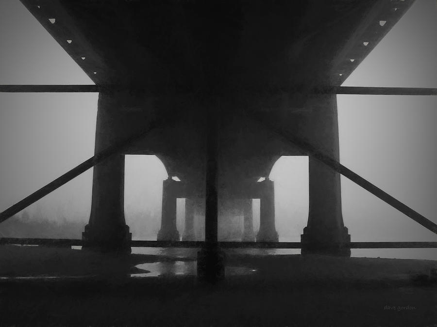 Under the Old Sakonnet River Bridge by David Gordon