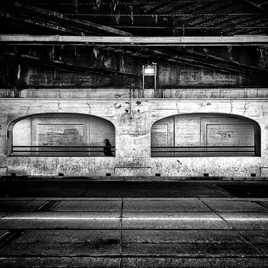 Toronto Photograph - Under The Overpass. Train Bridge At by Brian Carson