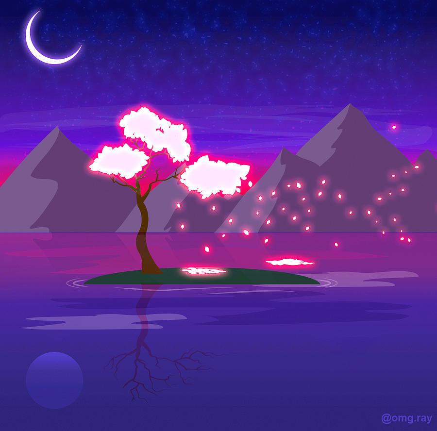 Fantasy Drawing - Under The Phoenix Tree by Raymond Lopez