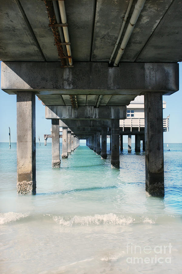 Pier Photograph - Under The Pier by Lynn Jackson