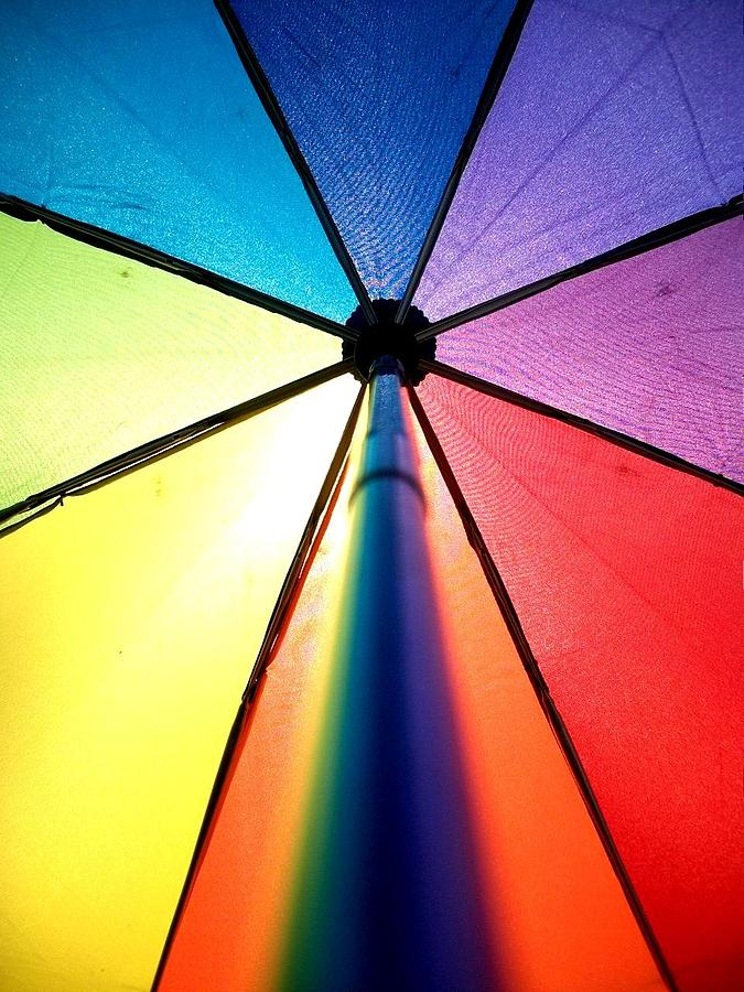 Under The Rainbow Umbrella Photograph