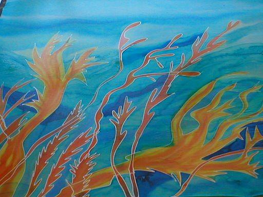 Silk Painting Painting - Under The Sea by Christine  Davis