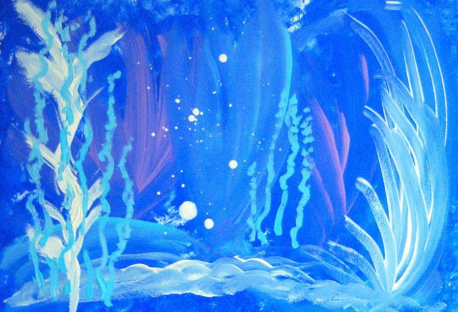 Seascape Painting - Under The Sea by Helene Henderson