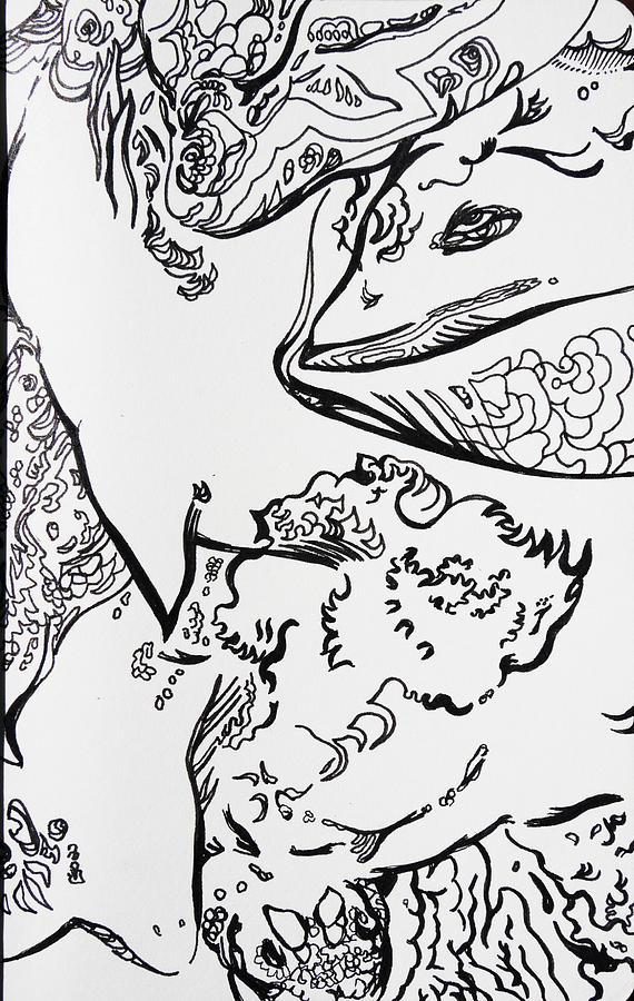 Sea Drawing - Under The Sea by Joseph Demaree