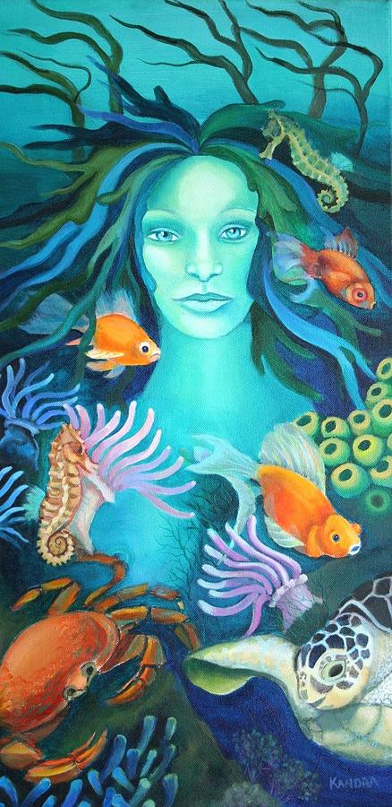 Seascape Painting - Under The Sea by Kandra Orr