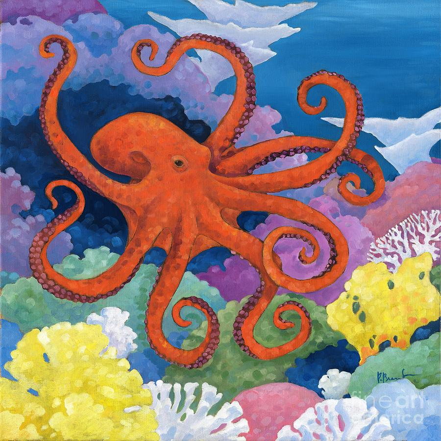 Under The Sea Octopus Painting By Paul Brent