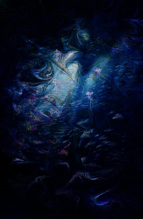 Abstract Digital Art - Under The Sea by Rachel Christine Nowicki