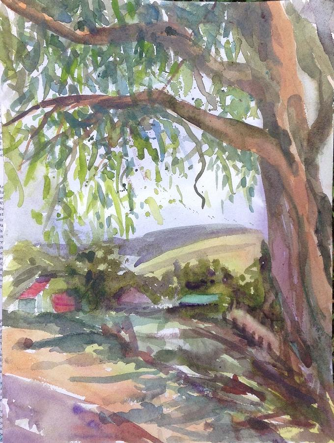 Plein Air Painting - Under The Shade  by Diane Renchler