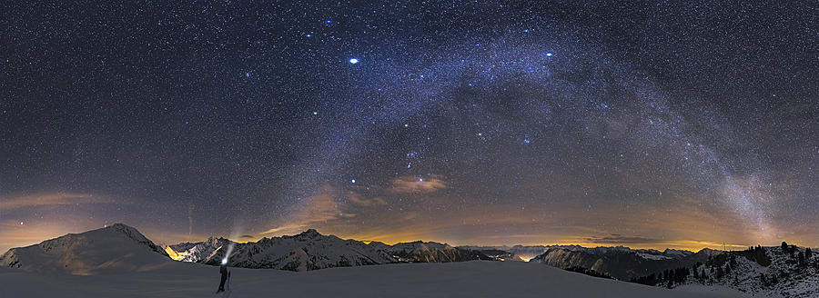 Night Photograph - Under The Starbow by Dr. Nicholas Roemmelt