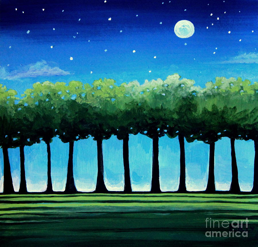 Modern Painting - Under The Stars by Elizabeth Robinette Tyndall