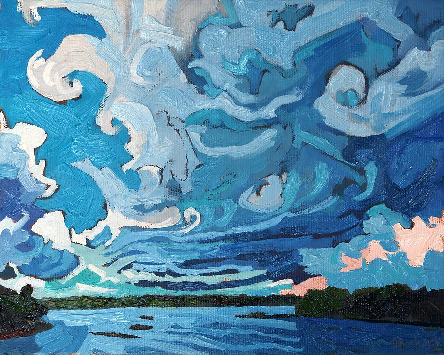 Thunderstorm Painting - Under The Storm by Phil Chadwick