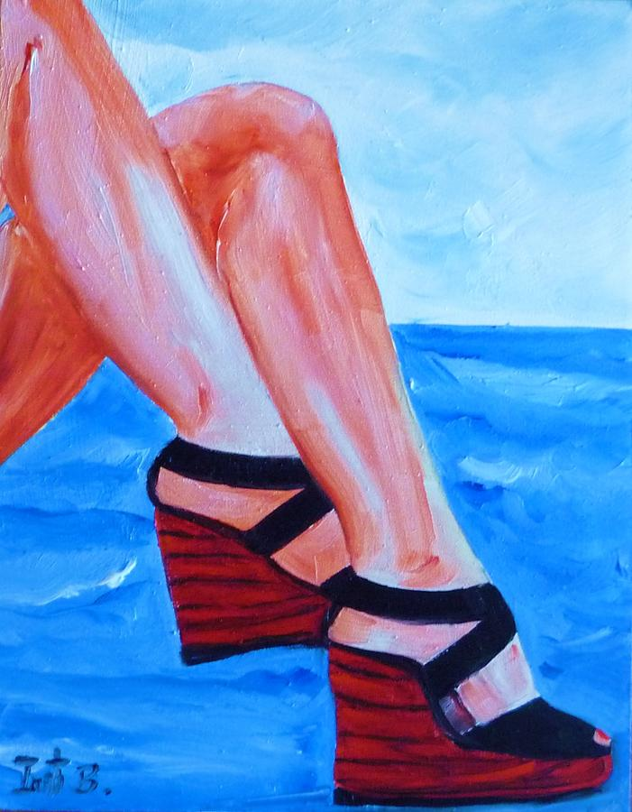 Shoes Painting - Under The Sun by Irit Bourla