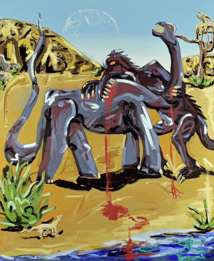 Dinosaur Painting - Under The Sun by Ryan Demaree