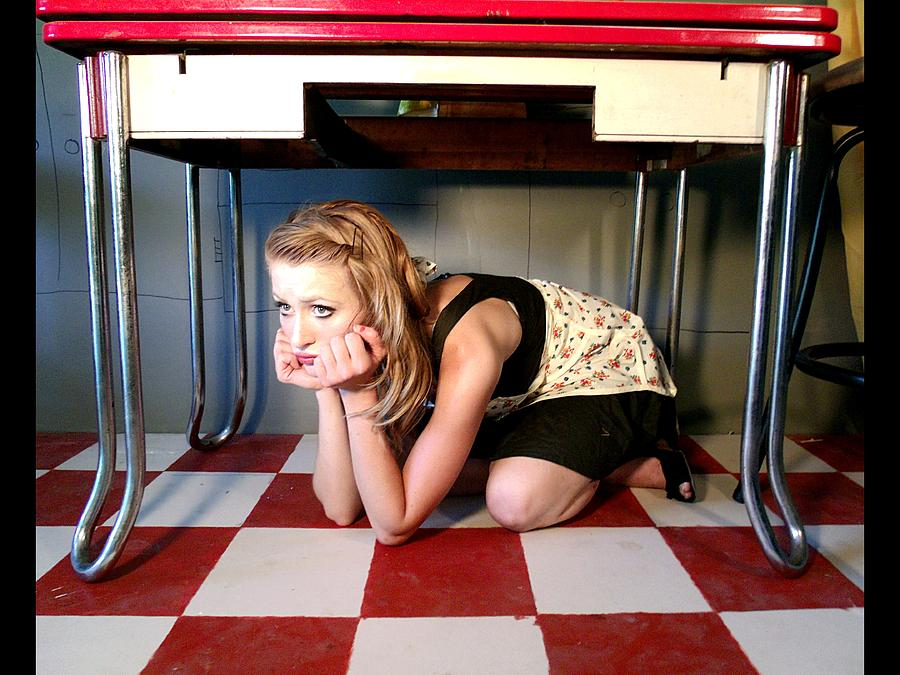 Conceptual Photograph - Under The Table by Byron Johnson