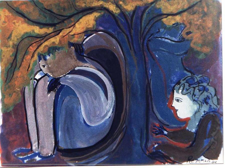 Under the tree by Rezvan Kani