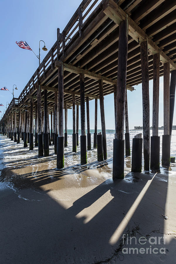 Ventura Photograph - Under The Ventura Pier In Southern California by Trekkerimages Photography