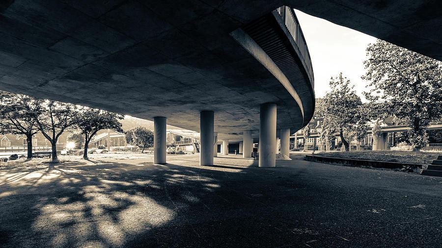 Architecture Photograph - Under The Viaduct B Urban View by Jacek Wojnarowski