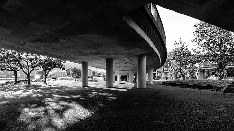 Architecture Photograph - Under The Viaduct C Urban View by Jacek Wojnarowski