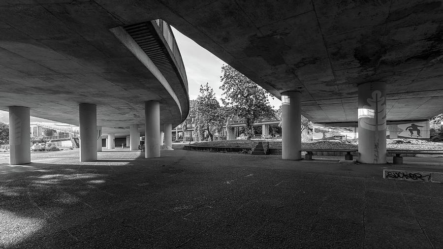 Architecture Photograph - Under The Viaduct D Urban View by Jacek Wojnarowski