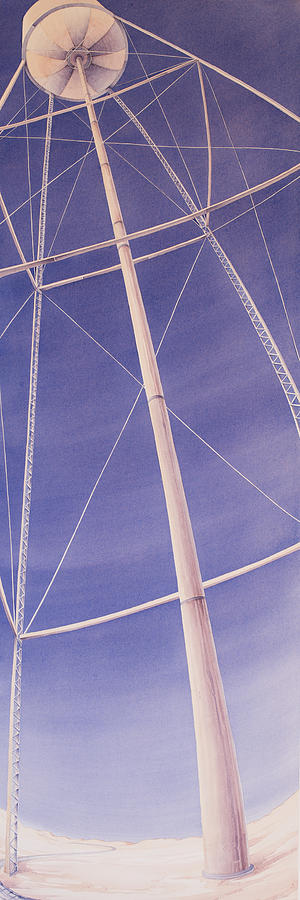 Great Plains Art Painting - Under The Water Tower by Scott Kirby