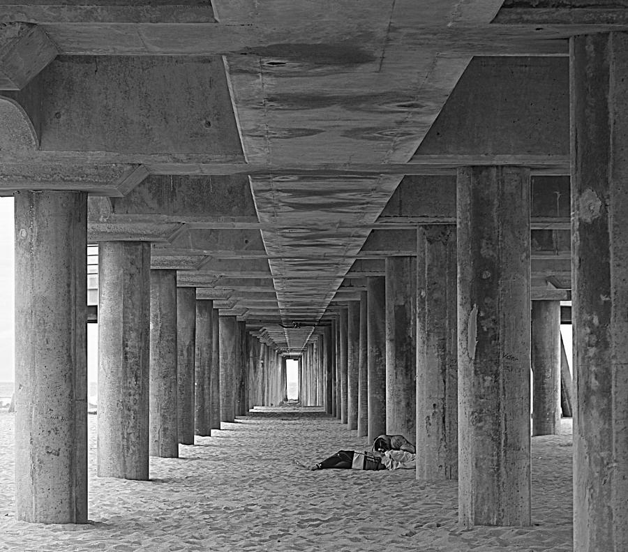 Pier Photograph - Under The Pier by Lori Seaman