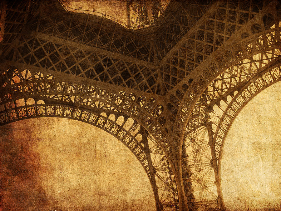 Eiffel Photograph - Under Tower by Andrew Paranavitana