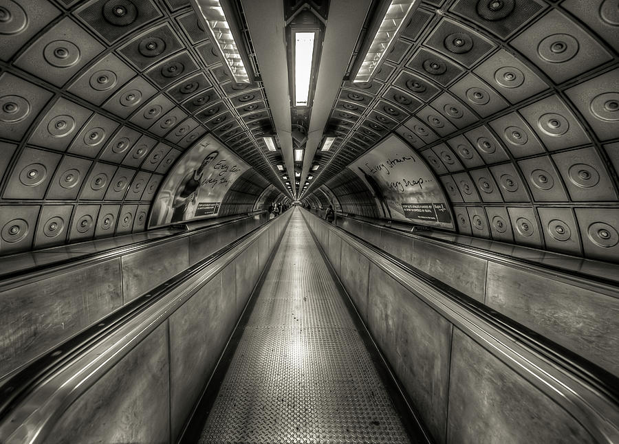 Horizontal Photograph - Underground Tunnel by Vulture Labs