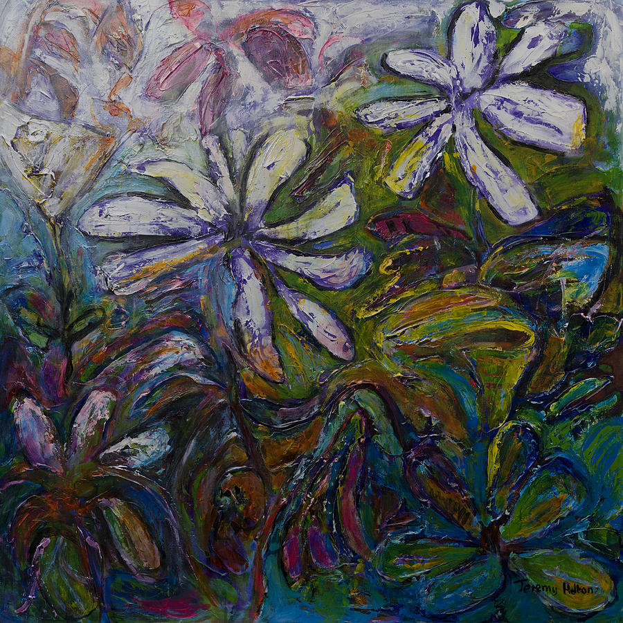 Flowers Painting - Undergrowth by Jeremy Holton