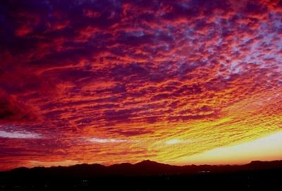 Sunset Photograph - Underlit Clouds by Audrey Kanekoa-Madrid