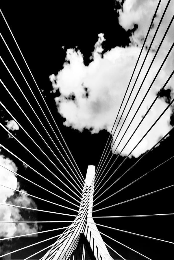 Bridge Photograph - Underneath The Zakim by Andrew Kubica
