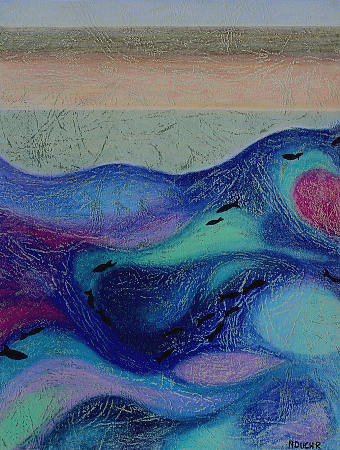 Mixed Media Mixed Media - Undersea Movement by Norma Duch