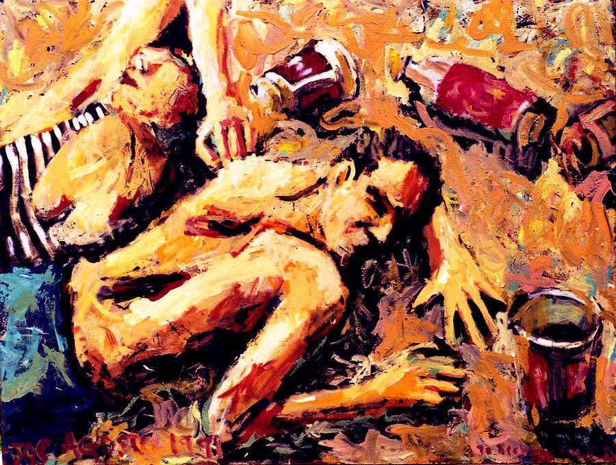 Sundy Painting - Undertow by Javier Molina