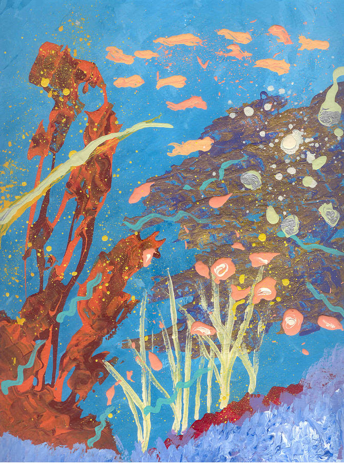 Underwater Painting - Underwater Abstract No. 2 by Helene Henderson