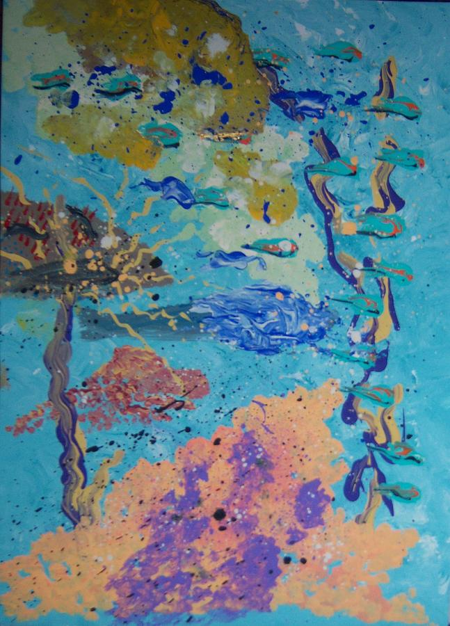 Abstract Painting - Underwater Abstract No. 3 by Helene Henderson