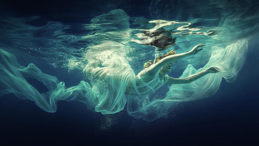 Girl Photograph - Underwater Fairy Tale by Dmitry Laudin