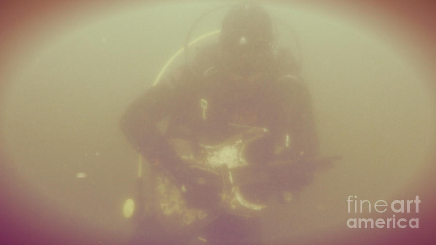 Guitar Photograph - Underwater Guitar by Randy Mitty