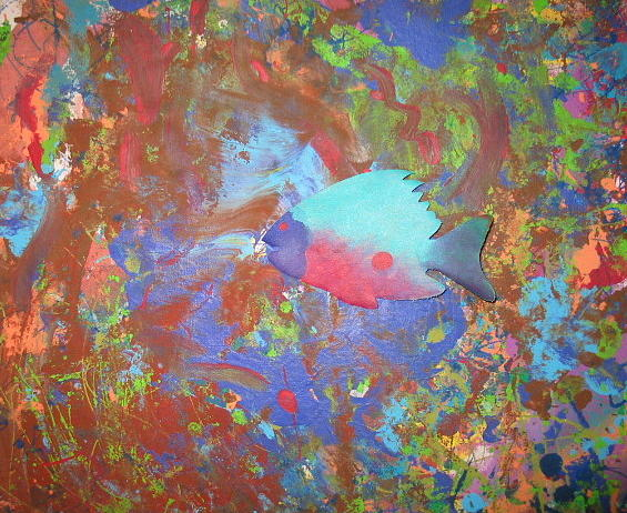 Underwater Periscope Painting by Anne Lattimore