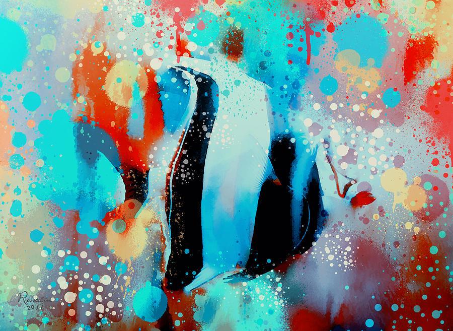 Fish Painting - Underwater Rainbow  by Rosalina Atanasova
