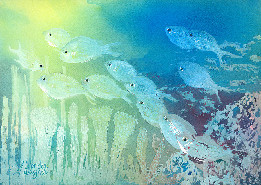 Under The Sea Acrylic Paintings