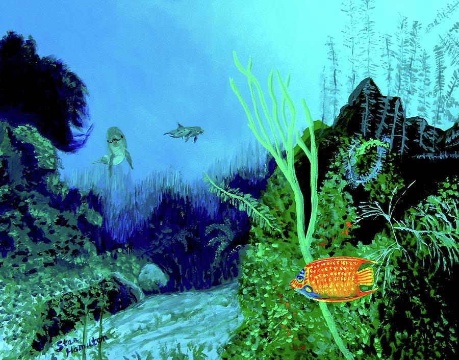 Wildlife Painting - Underwater by Stan Hamilton