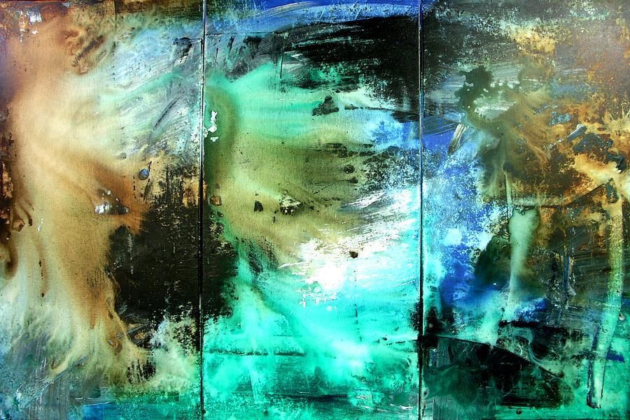 Underwater Sunshine Painting by Peter Dranitsin