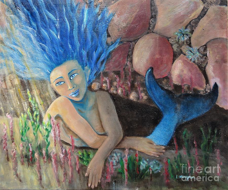 Mermaid Painting - Underwater Wondering by Laurie Morgan