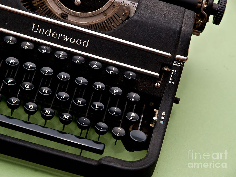 Typewriter Photograph - Underwood by Valerie Morrison