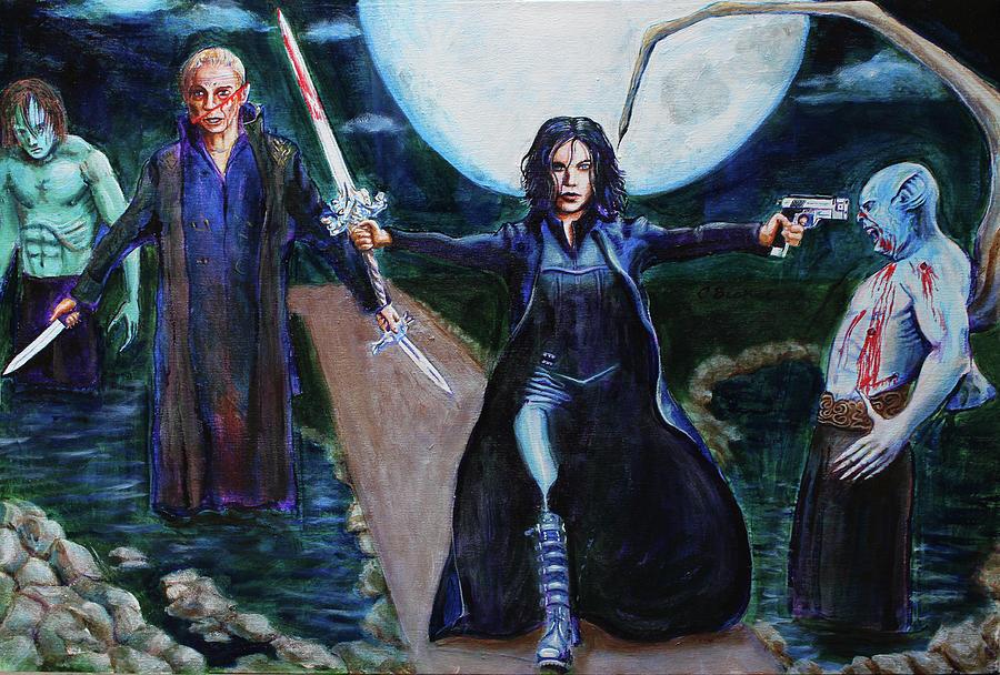 Selene Painting - Underworld Trilogy by Charles Bickel