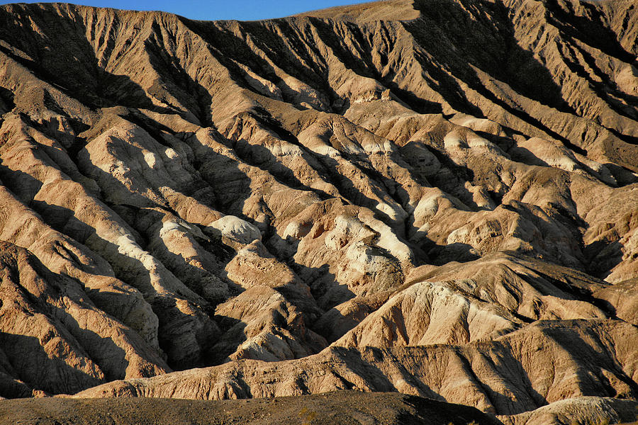 Death Valley National Park Photograph - Unearthly World - Death Valleys Badlands by Christine Till