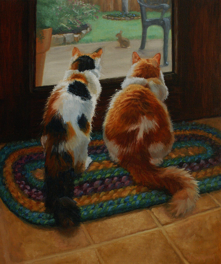 Animals Painting - Unexpected Guest by Vicky Gooch