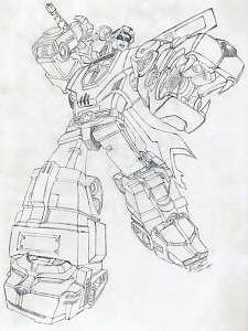 Voltron Drawing - Unfinished Voltron Defender Of The Universe by Thomas Case