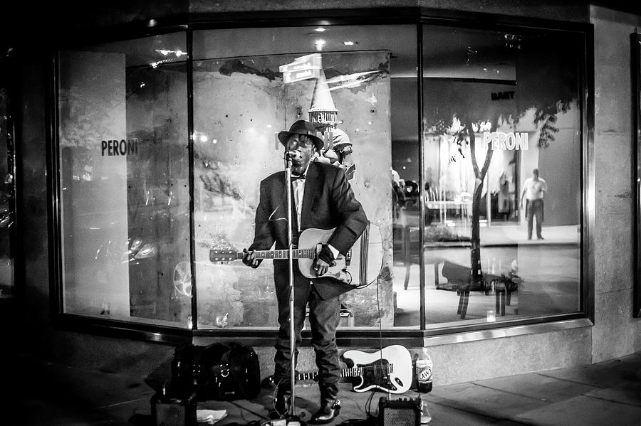 Black And White Photograph - Unfocused Performance by Kyle Field